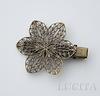 Основа для заколки с филигранным цветком, 57х39 мм (цвет - античная бронза) ()