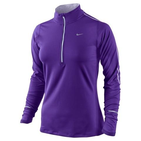 Футболка Nike Element H/Z (W) /Рубашка беговая синяя
