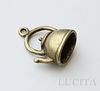 "Подвеска 3D ""Чайник"" (цвет - античная бронза) 19х16 мм ()"