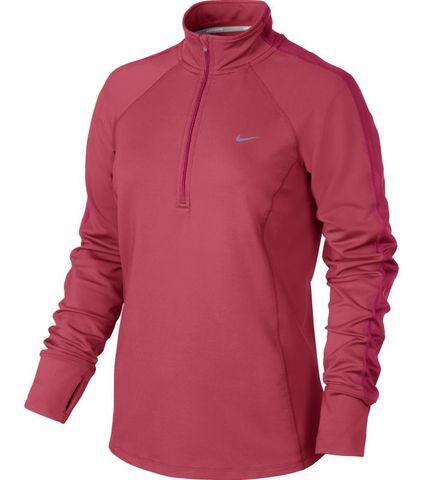 Футболка Nike Racer LS HZ Top (W) /Рубашка беговая красная