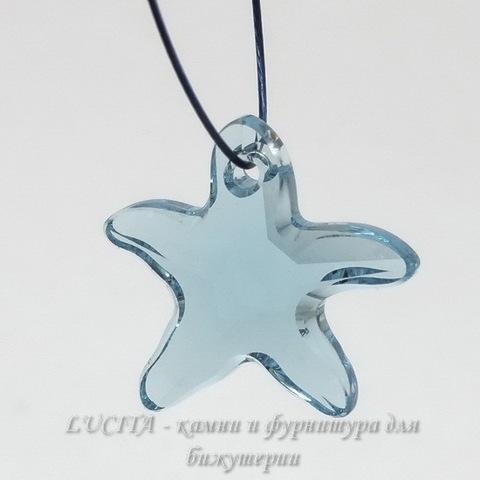 6721 Подвеска Сваровски Морская Звезда Aquamarine (16 мм)