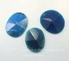 "Подвеска Агат ""Крэкл"" с огранкой (тониров), цвет - синий, 54х48х10 мм"