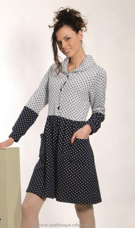 Женский халат с длинным рукавом DolceVita (Женские халаты)