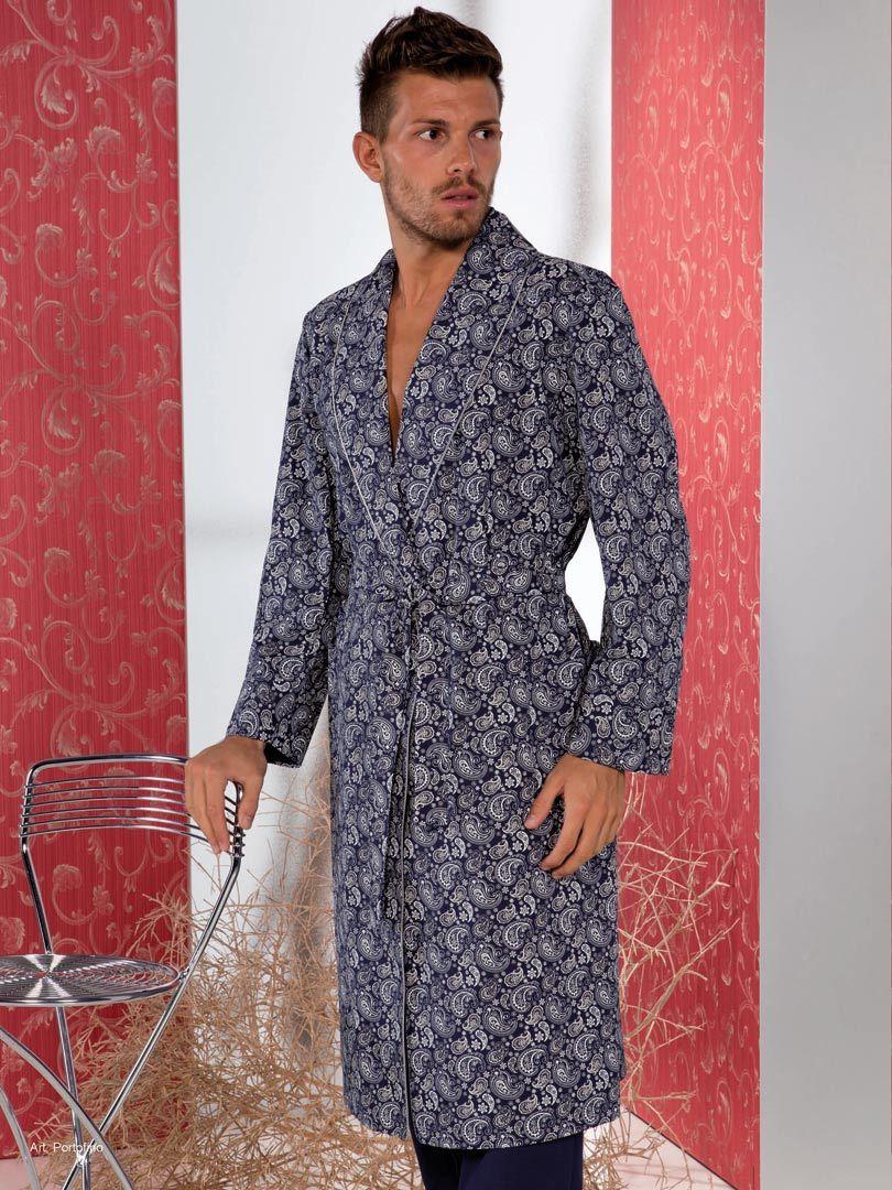 Домашний халат с орнаментом B&B (Мужские халаты)