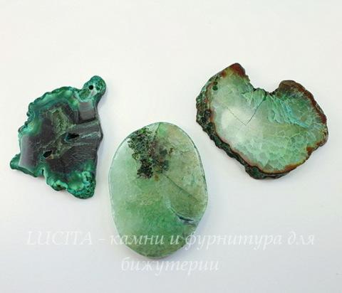 Подвеска Агат (тониров) (цвет - зеленый) (0)