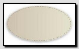 Схематичное изображение белого овального кожаного бювара.
