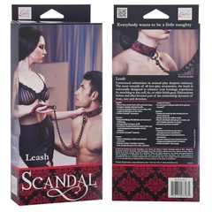 Поводок с цепью Scandal Leash атласный