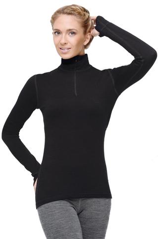 Термобелье рубашка Norveg Hunter с длинным рукавом женская чёрная