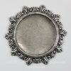 """Сеттинг - основа """"Илиос"""" для камеи или кабошона 27 мм (оксид серебра) ()"""
