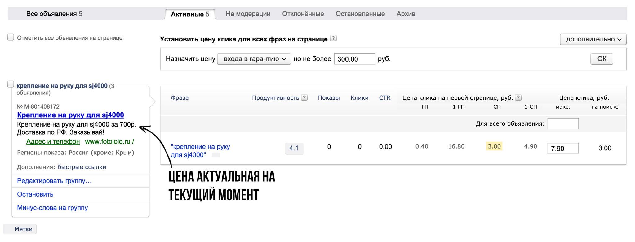 Управление Яндекс.Директ