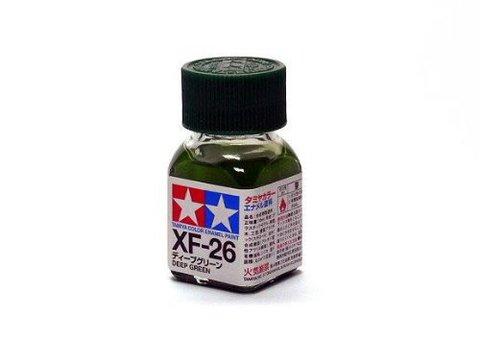 XF-26 Краска Tamiya Насыщенная Зеленая Матовая (Deep Green), эмаль 10мл