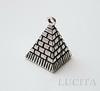 "Подвеска 3D ""Пирамида"" 20х13 мм (цвет - античное серебро) ()"