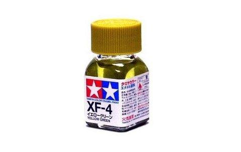 XF-4 Краска Tamiya Желто-зеленая Матовая (Flat Yellow Green), эмаль 10мл
