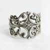 Винтажная основа для кольца  (филигрань) (оксид серебра)