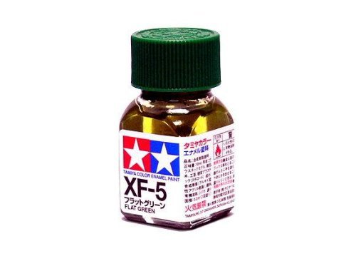 XF-5 Краска Tamiya Зеленая Матовая (Flat Green), эмаль 10мл