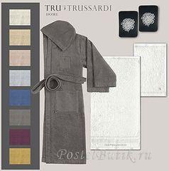 Элитный халат махровый Story ваниль от Trussardi