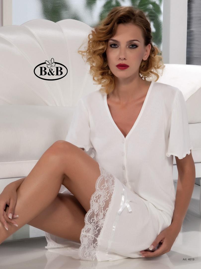 Ночная сорочка с кружевом B&B (Домашние платья и ночные сорочки)