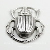"""Винтажный декоративный элемент - штамп """"Скарабей"""" 43х27 мм (оксид серебра)"""
