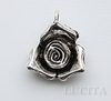 "Подвеска ""Бутон розы"" (цвет - античное серебро) 27х23 мм"