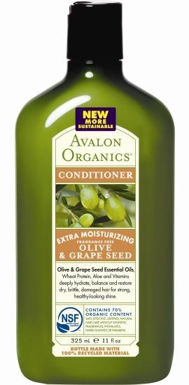 Экстраувлажняющий кондиционер с оливой и виноградными косточками, Avalon Organics