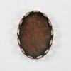 Сеттинг - основа для камеи или кабошона 18х13 мм (оксид меди) ()