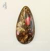 Подвеска Каменная мозаика (искусств) Капля, 60х30 мм