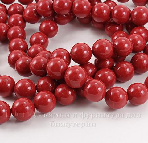 5810 Хрустальный жемчуг Сваровски Crystal Red Coral круглый 12 мм