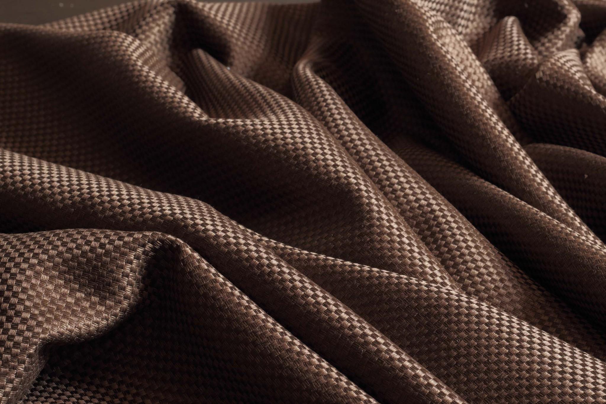 Готовая штора. Портьера плотная с шахматным плетением (венге)