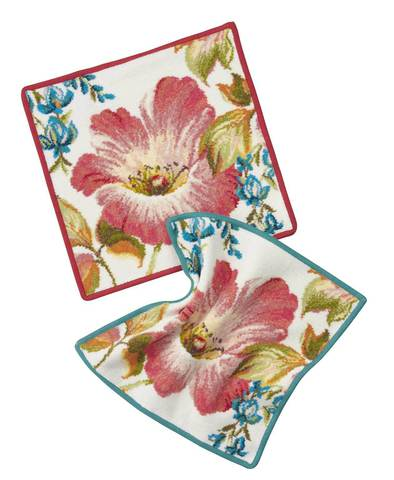 Элитная салфетка шенилловая Hibiskus 132 karminrot от Feiler