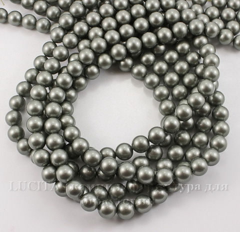 5810 Хрустальный жемчуг Сваровски Crystal Powder Green круглый 8 мм , 5 шт