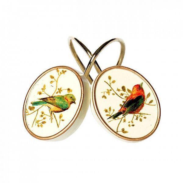 Крючки для ванной Набор из 12 крючков для шторки Avanti Gilded Birds nabor-kryuchkov-dlya-shtorki-gilded-birds-ot-avanti-ssha--kitay.jpg