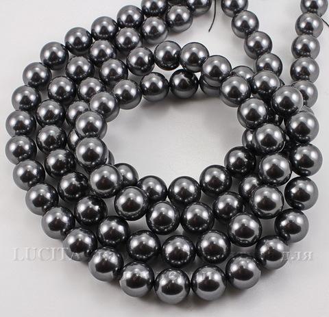 5810 Хрустальный жемчуг Сваровски Crystal Dark Grey круглый 12 мм