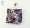 Подвеска Аметист в рамке (цвет - античное серебро)