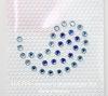 "70809 Тату Сваровски ""Капля"" Aquamarine+Sapphire 39х30 мм"