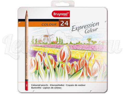 Набор из 24 цветных карандашей Bruynzeel Expression Colour, в метал. кор.