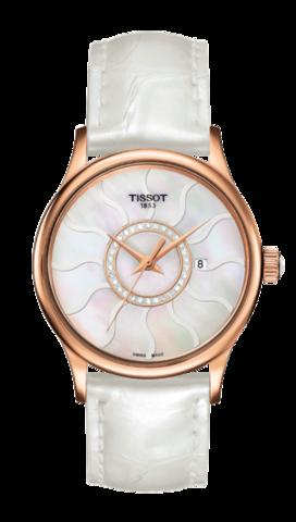 Купить Женские швейцарские золотые часы Tissot T-Gold T914.210.46.116.00 по доступной цене