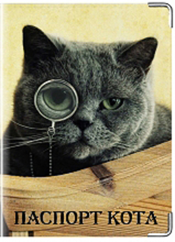 """Обложка для ветеринарного паспорта """"Паспорт кота"""""""