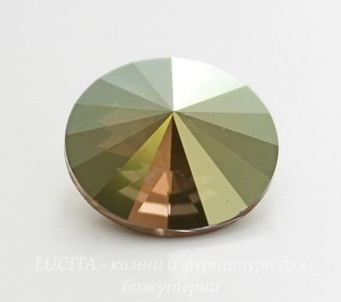 1122 Rivoli Ювелирные стразы Сваровски Crystal Iridescent Green (14 мм)