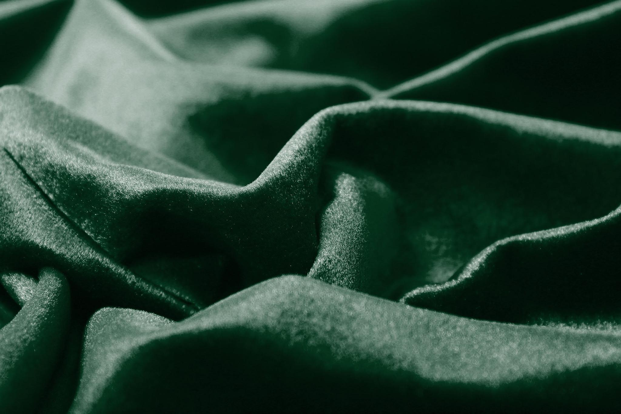 Velour (Зеленый). Шторы из велюра из серии Luxe.