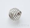 "Пружинка ""ловушка для бусин"" (цвет - античное серебро) 15х14 мм ()"