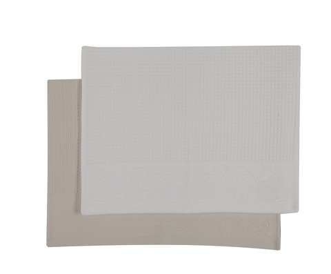 Набор полотенец 2 шт Devilla Favo натуральный/белый