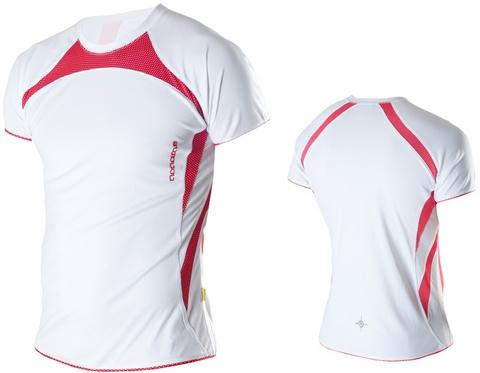 Футболка Noname Running 2011, белый-красный
