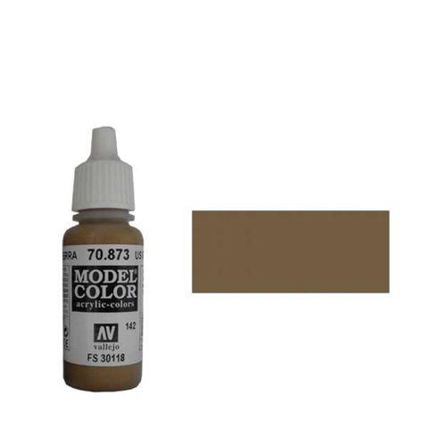 142. Краска Model Color Тускло-Коричневый 873 (US Field Drab) укрывистый, 17мл