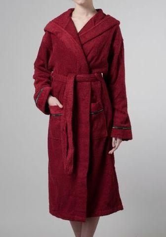 Элитный халат махровый Picki рубиновый от Trussardi