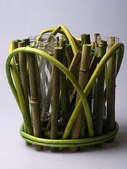 Декоративная ваза из бамбука 8259