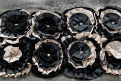 Коврик для ванной 60x90 Emanuel Ungaro Roses черный