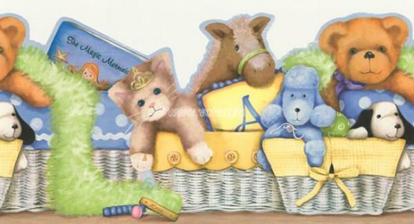 Бордюр Aura Honey Bunny RU8127B, интернет магазин Волео