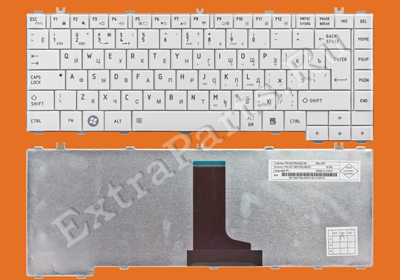 Клавиатура TOSHIBA Satellite L630 (RU) белая