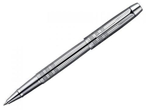 """Купить Ручка-роллер Parker IM Premium, T222, цвет: Shiny Chrome, стержень: Fblack, (гравировка """"сияющий хром"""") S0908650 по доступной цене"""