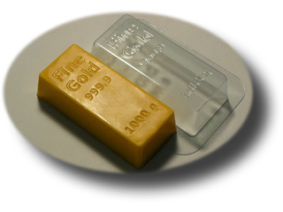 Золотой слиток Форма для мыла